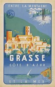 Cote Et Vintage : cote d 39 azur vintage railway travel poster let 39 s go pinterest travel posters vintage ~ Maxctalentgroup.com Avis de Voitures