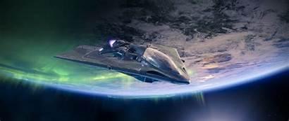 Destiny Spaceship 4k Ship Planet Widescreen Background