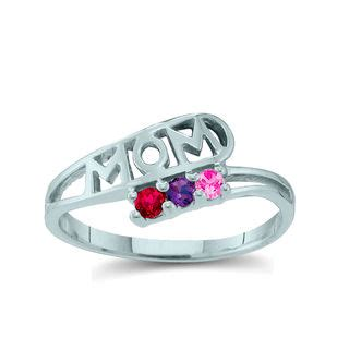 design your own mothers rings s birthstone quot quot bypass ring 2 6 stones