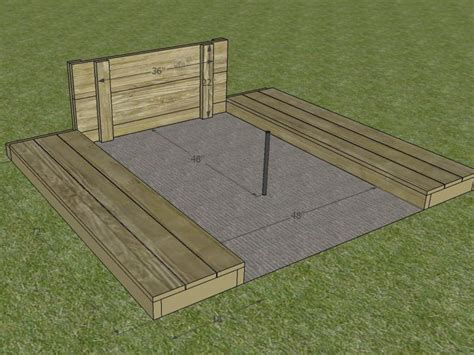 Horseshoe Pit Dimensions Backyard by How To Build A Horseshoe Pit How Tos Diy
