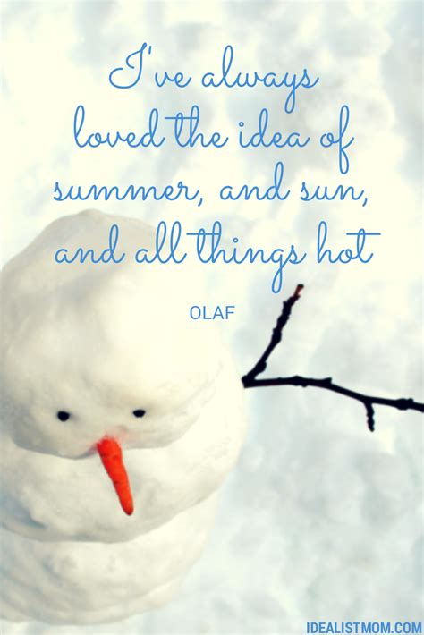olaf summer quotes quotesgram