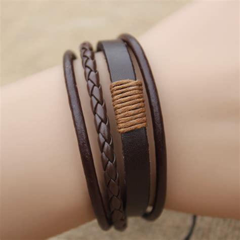 multilayer bracelet leather bracelets men bracelets