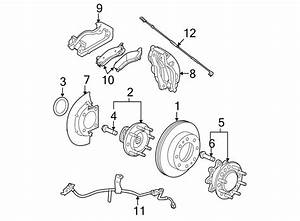 Chevrolet Express 3500 Disc Brake Caliper Bracket  Ton