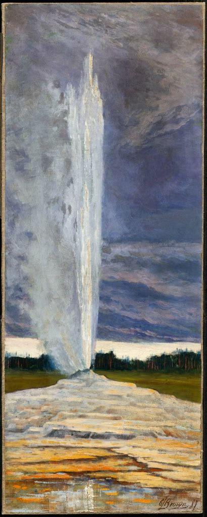 yellowstone geyser museum  fine arts boston