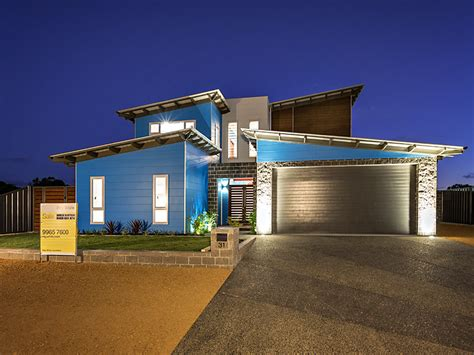 Ideas For Kitchen Colours - modern two story house in australia adorable home