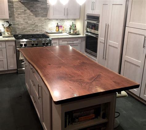 kitchen island tops live edge wood countertops custom