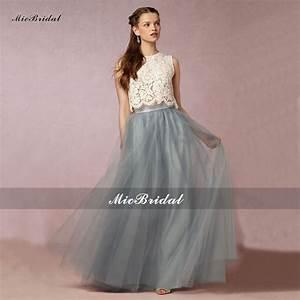 Cheap Vintage Lace Two Piece Bridesmaid Dresses 2016 ...