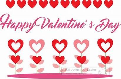 Happy Valentines Clipart Flowers Hearts Transparent Medium