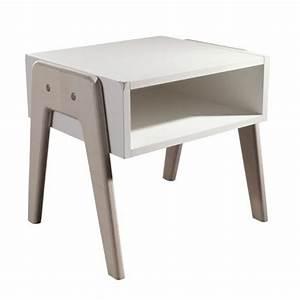 Table De Chevet Blanche : table de chevet blanche 3 suisses marie claire maison ~ Teatrodelosmanantiales.com Idées de Décoration