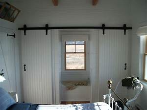 barn style closet doors Kitchen Transitional with barn