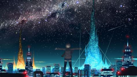 best digital timing light 1920x1080 anime city lights roof the sky night
