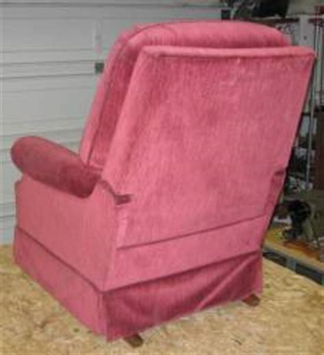 taking the back of a lazyboy recliner upholstery