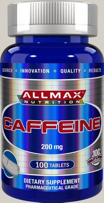 There's more caffeine in instant coffee vs. AllMax Nutrition Caffeine 200 Mg - 100 Tab