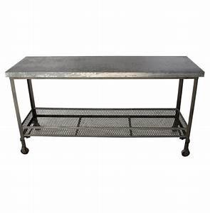 urban mercantile galvanized steel industrial console table With galvanized steel coffee table