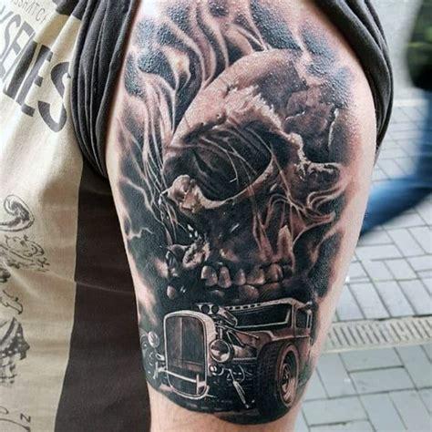 hot rod tattoo designs  men automobile aficionado