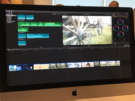 final cut pro apple demos cut pro x 10 4 with support for h 265 hdr vr more