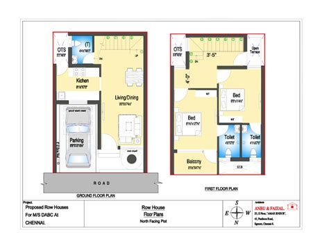 Row Home Plans by 187 Row House