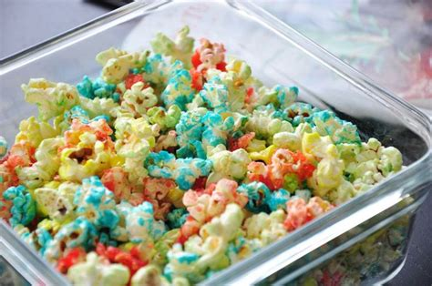 colored popcorn colored popcorn recipe kid sweet and popcorn recipes