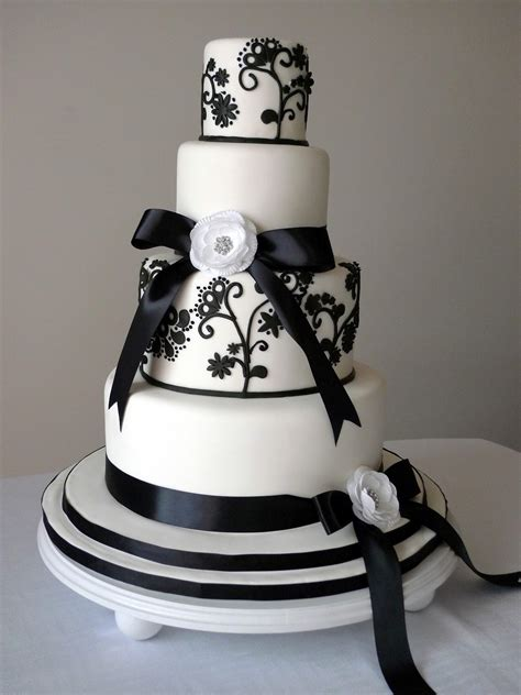 cakebee elegant black white wedding cakes