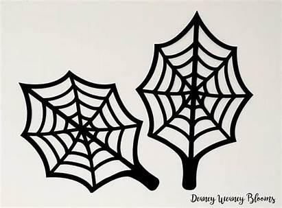 Halloween Spider Printable Svg Pdf Leaf Template