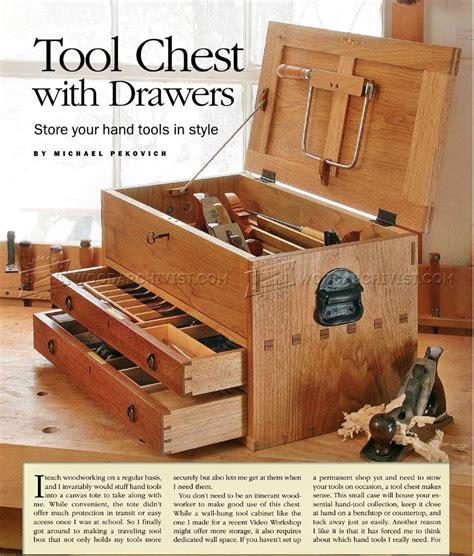 tool chest plans woodarchivist