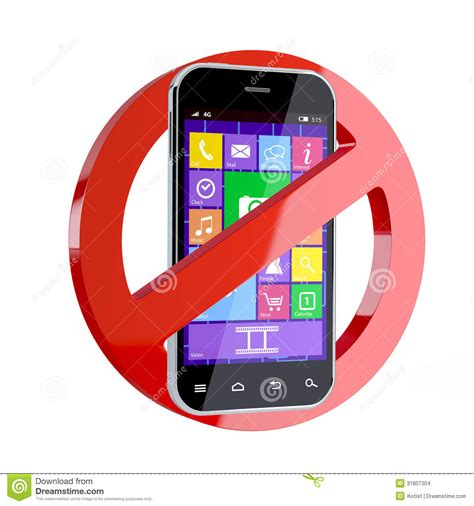No Cell Phone Sign Stock Images Image 31807304