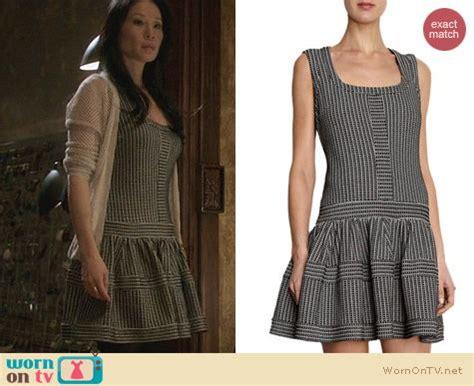 wornontv joans striped drop waist dress  elementary