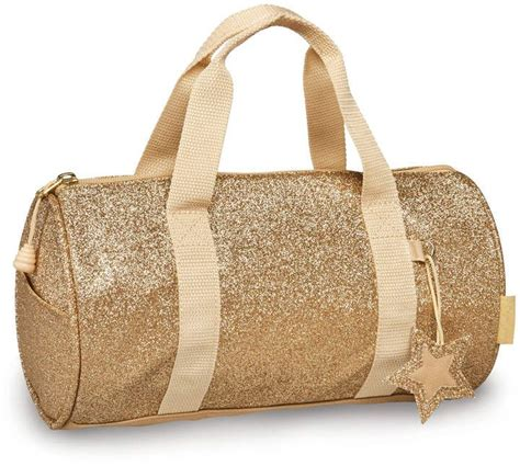 small gold sparkalicious duffel dancegeartravel  images kids duffle bags gold duffle