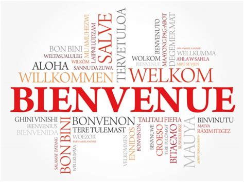 WELCOME word cloud in different languages — Stock Vector ...