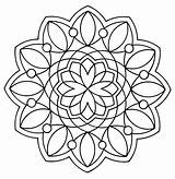 Coloring Geometric Pages Printable sketch template