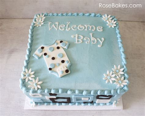 Baby Shower Sheet Cakes For by Mod Onesie Baby Shower Cake And Blue Apples Baby