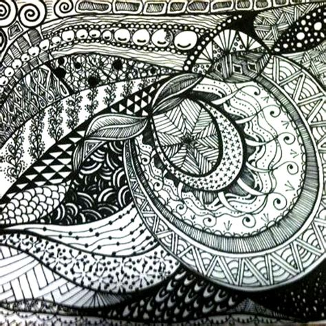 zentangle harmony drawing  barbara carlson