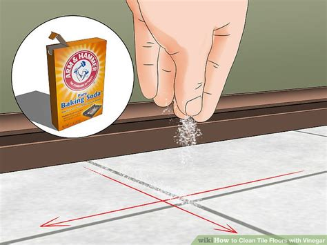 how to clean tile floors with vinegar and baking soda how to clean tile floors with vinegar 11 steps with