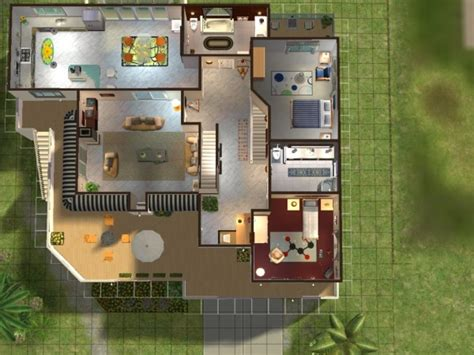 maison moderne de luxe sims 3 chaios
