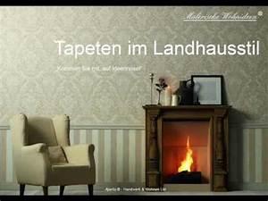 Wohnideen Im Landhausstil : tapeten im landhausstil wandgestaltung youtube ~ Lizthompson.info Haus und Dekorationen