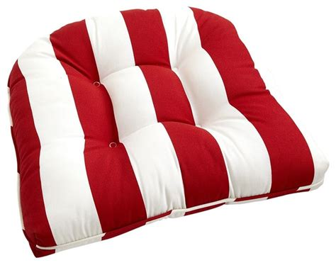 cabana stripe cushion tomato traditional seat