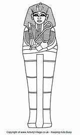 Ancient Egypt Sarcophagus Discover Coloring Crafts sketch template