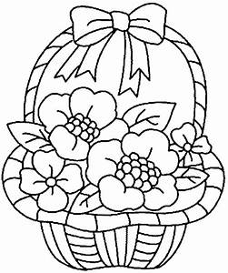 Flower Basket Coloring Pages Coloring Pages