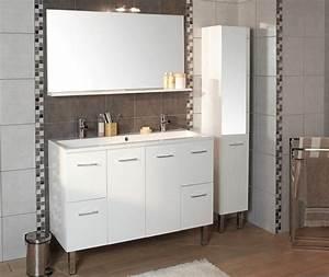 meuble bas salle de bain brico depot With porte de douche coulissante avec meuble salle de bain bois brico depot