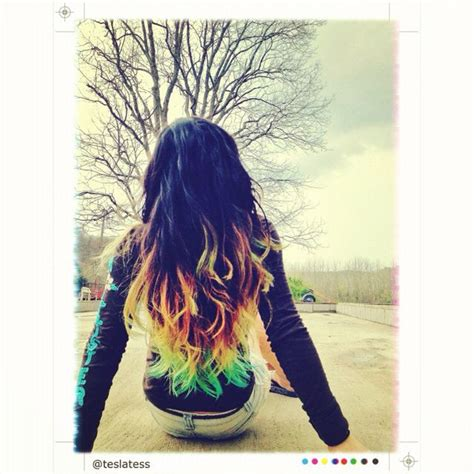 Ombre Hair Dip Dyed With Kool Aid If You Have Dark Hair