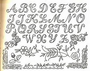 Embroidery transfer fonts handlettering pinterest for Embroidery letter transfers