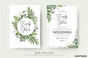 wedding invitation floral invite thank you rsvp modern With wedding invitations templates coreldraw