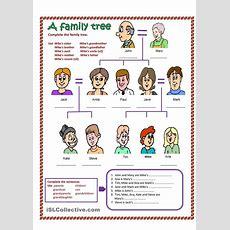 Esl Family Tree Worksheet  Esleducation  Family Tree Worksheet, Family Worksheet, English Grammar
