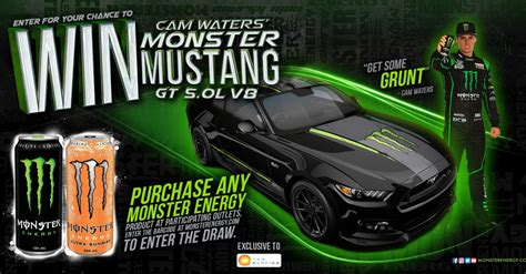 win cam waters monster mustang gt