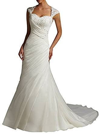 dapene 174 women s lace sweetheart mermaid train bridal gown