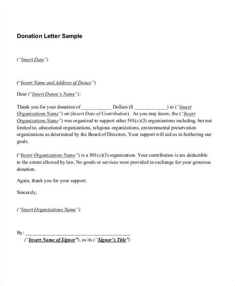 Many organizations receive donations for their various efforts throughout the year. 10+ Sample Donation Thank-You Letters - DOC, PDF   Free ...
