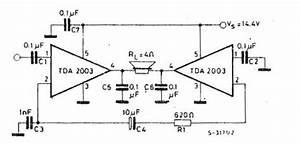 tda amplifier circuits circuit diagram world With lm4856 integrated audio amplifier circuit diagram datasheet and application