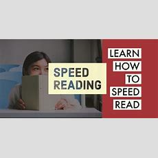 Speed Reading  Learn How To Speed Read Teachifyme