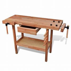 Construire Un établi En Bois : acheter etabli de menuisier en bois avec tiroir et taux ~ Premium-room.com Idées de Décoration