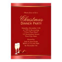 formal big red christmas dinner party invitations 5 quot x 7 quot invitation card zazzle